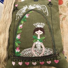 ...to stitch your own love bird/fairy tale girl/serene bride to be : ) #malvernquiltshow #quiltsuk #vintagelinenthread #vintageembroidery #linenembroidery
