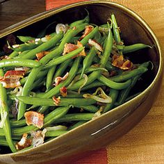 Green Beans with Warm Bacon Dressing - GoodHousekeeping.com
