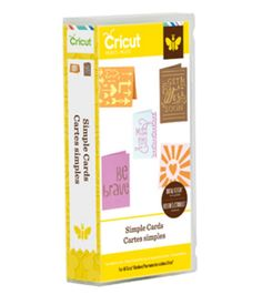 Cricut Project Cartridge, Simple Cards
