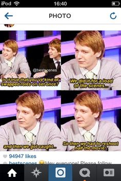 Harry Potter funny lol Fred and George Harry Potter Jokes, Harry Potter Fandom, Percy Jackson, It's All Happening, Weasley Twins, Mischief Managed, Film Serie, Hogwarts, Fandoms