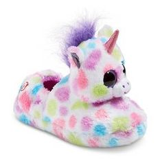 Girls' TY Beanie Boo Wishful the Unicorn Loafer Slippers - Multi-Colored S : Target