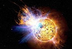 De vlamster (of Flare-ster) EV Lacertae.Afbeelding: Ruimtefoto's van NASA (© NASA)