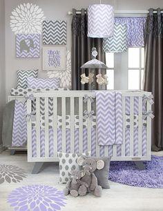 New Swizzle Purple crib bedding from Glenna Jean