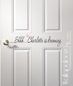Shhh...Baby Dreaming Door Decal Nursery by WallapaloozaDecals