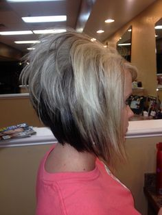 short angled stacked bob - Google Search