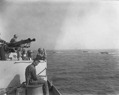 USS Texas on June 6, 1944 near Omaha Beach.