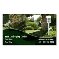 Landscaping Business Cards Lawn Care Cardslawn Mowing