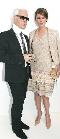 Karl Lagerfeld & Melania Trump