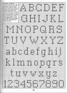 Schema punto croce Alfabeto Angeli 4