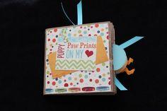DOG LOVER PAPER BAG SCRAPBOOK | scrappybags - Paper/Books on ArtFire Paper Bag Scrapbook, Paper Book, Scrapbooks, Dog Lovers, Prints, Bags, Handbags, Scrapbooking, Scrapbook