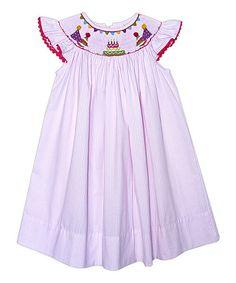 Another great find on #zulily! Pink Stripe Birthday Angel-Sleeve Dress - Toddler & Girls #zulilyfinds