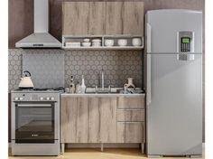 Cozinha Completa Líder Casa Aroma com Balcão - 4 Portas 3 Gavetas com as melhores condições você encontra no Magazine Andersonnascimen. Confira!