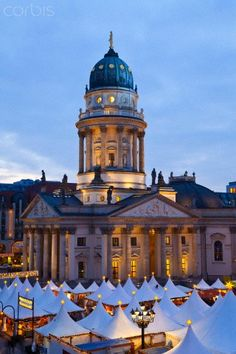 ˚Traditional Christmas Market at Gendarmenmarkt - Berlin, Germany, Europe