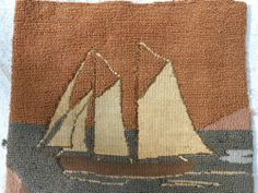old hooked ship rug