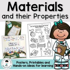 Teach your Prep and Kindergarten students about the chemistry strand of materials and their properties with this science unit! Explore the different materials that familiar objects are made of through hands-on explorations and complimentary printables. Science Area, Primary Science, Third Grade Science, Teaching Science, Kindergarten Activities, Science For Kids, Science Activities, Classroom Activities, Science Projects