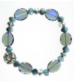 #DIY Blue Beaded Bracelet from Joann.com