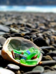 sea glass - happy memories of the North Jersey Shore and my Mom's fantastic collection.