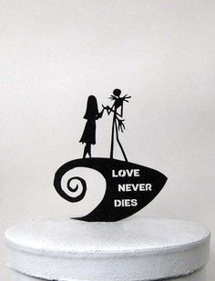 Awesome Wedding Cake Toppers for TV and Film Buffs - Nightmare Before Christmas cake topper