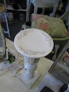 Rustique... The Rehab Boutique: Pillar Candle Holders Using Repurposed Junk!