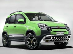 Fiat Panda Cross 4x4 - Acid Green - New for Autumn 2014 - she's rugged and would look amazing towing a T@B caravan / trailer or T@G - beautiful!