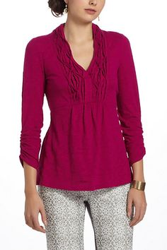 Puckered Placket Pullover - Anthropologie.com