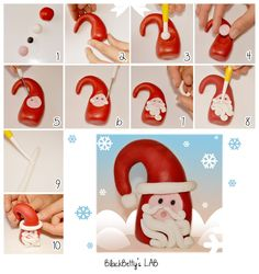 cute little santa BlackBetty'sLab: cupcakes topper