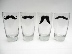 #mustache pint glasses
