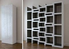 [Accessories] : Appealing Parquet Flooring Room With Ikea Free Standing White Wooden Bookshelf Along With White Wooden Cupboard Creative Bookshelves, Modern Bookshelf, Bookshelf Design, Ikea Bookcase With Doors, Expedit Bookcase, Bookcases, Food Storage Shelves, Shelving, Wooden Cupboard