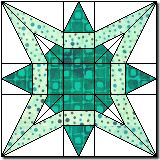 """New Star 10"""" or 12"""" paper pieced block"""