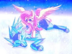 Fluttershy and Ice Wolf