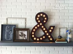 Pin for Later: 22 Foolproof Fall DIYs Marquee Light This DIY marquee light only looks like it cost hundreds and will instantly upgrade your Fall mantel. Source: Happy Looks Good on You Diy Marquee Letters, Marquee Lights, String Lights, Marquee Sign, Easy Diy Christmas Gifts, Cheap Christmas, Navidad Diy, Diy Weihnachten, Nocturne