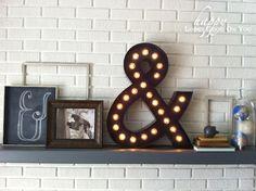 Regalkombi: DIY Kreidebild, Lampe