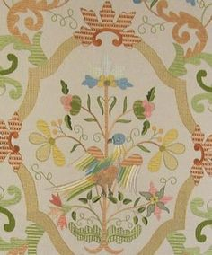 Embroidery of Castelo Branco , Portugal . Jacobean Embroidery, Embroidery Patterns, Portuguese Culture, Embroidered Bird, Sea Activities, My Heritage, Western World, Needlework, Knit Crochet