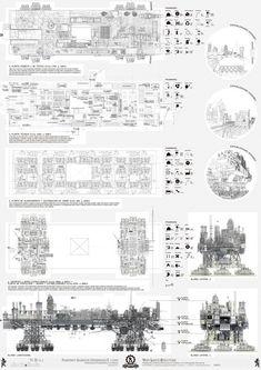 A Walking City for the 21st Century,Presentation Board 7. Image © Manuel Dominguez / Zuloark