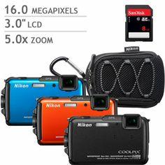 Costco: Nikon Coolpix AW110 Weatherproof Digital Camera Bundle