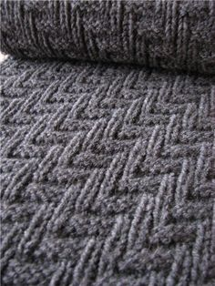Interesting tailored knitting stitch pattern with chart. Just knits & purls - 15 row repeat. Alternate rows knit as indicated