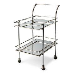 Butler Gatsby Nickel Loft Bar Cart 3139220