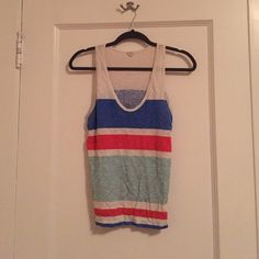 J. Crew Stripe Tank Pre-loved, super soft J. Crew Tops