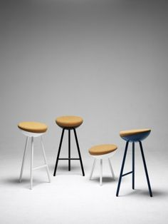 boet stool | note design studio  cork seats. i like short white stool.