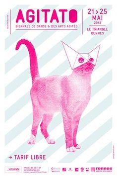 © Création © Brest Brest Brest - Festival AGITATO, biennale de danse et des arts agités #Poster Graphic Design