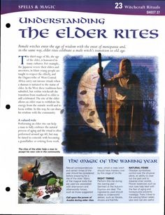 Book of Shadows: BOS Understanding the Elder Rites page. Wicca Witchcraft, Pagan Witch, Witches, Tarot, Male Witch, Eclectic Witch, White Witch, Wiccan Crafts, Mind Body Spirit
