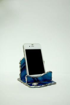 Glass iPhone Stand Smartphone Stand Stained Glass by SophieRR, $36.00