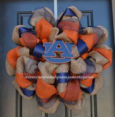 Auburn University Wreath on Burlap- Collegiate Wreath. $90.00, via Etsy.