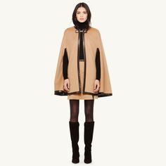 Overlock mantle type woolen outerwear