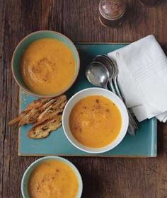 Roasted Carrot and Parsnip Soup|You can make this soup and refrigerate it up to 3 days in advance. To freeze it: Cool the soup to room temperature and divide among freezer containers or bags (figure on 2 cups per serving). Freeze for up to 3 months. Make the olive oil toast just before serving. Try these other recipes with roasted carrots: