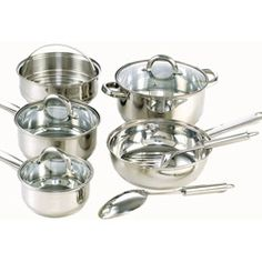 $37.04 | Stainless Steel 10-piece Cookware Set. TEFLON FREE!