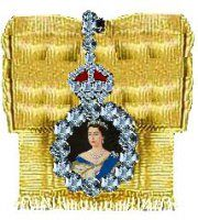 Queen Elizabeth's family order.  A sovereign's family order is bestowed on female members of the Royal family, and in the past, foreign Royalty and less commonly, members of the household.  Current holders are Princesses Anne and Alexandra, Duchess of Cornwall, Gloucester and Kent and the Countess of Wessex.  Queen Elizabeth wears the order of her father and grandfather, King George VI and King George V.  Queen Victoria wore the order of her uncle King George IV.