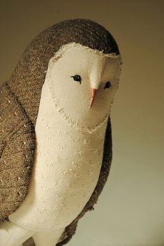 Barn owl soft sculpture by Willowynn