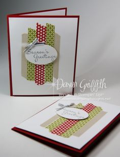 Seasons Greetings Washi Tape cards Stampin' Up!