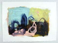 "Richard Lund- ""Deep Dark Secrets 2""   2013   Acrylic on paper 20x30"